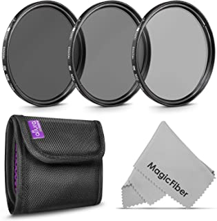 72MM Altura Photo Neutral Density Professional Photography Filter Set (ND2 ND4 ND8) + Premium MagicFiber Microfiber Cleaning Cloth