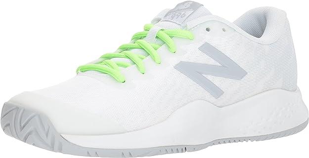 New Balance Boys' Kid's 996v3 Hard Court Tennis Shoe, White, 1.5 M US Little