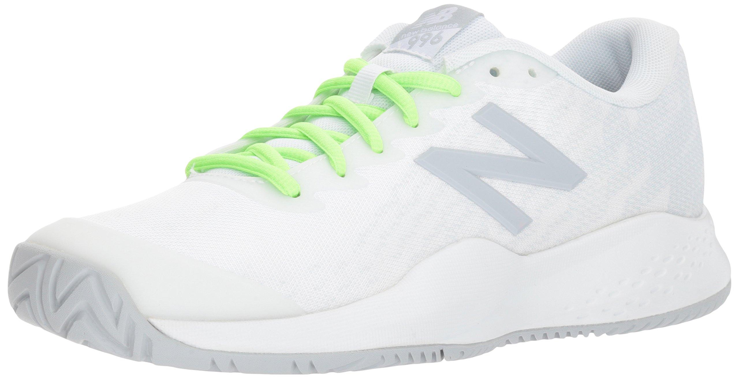 New Balance Boys' Kid's 996v3 Hard Court Tennis Shoe, White, 13 M US Little