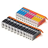 24 Pack Compatible Canon PGI-250 , CLI-251, Canon 251, Canon 250 8 Big Black, 4 Small Black, 4 Cyan, 4 Magenta, 4 Yellow for use with Canon PIXMA iP7220, PIXMA MG5420, PIXMA MG5422, PIXMA MG6320, PIXMA MX722, PIXMA MX922. Ink Cartridges for inkjet printers. CLI-251BK , CLI-251C , CLI-251M , CLI-251Y , PGI-250BK © Blake Printing Supply
