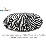 NutriBuck Buckwheat ZAFU Meditation Cushion Filled with Buckwheat Hulls