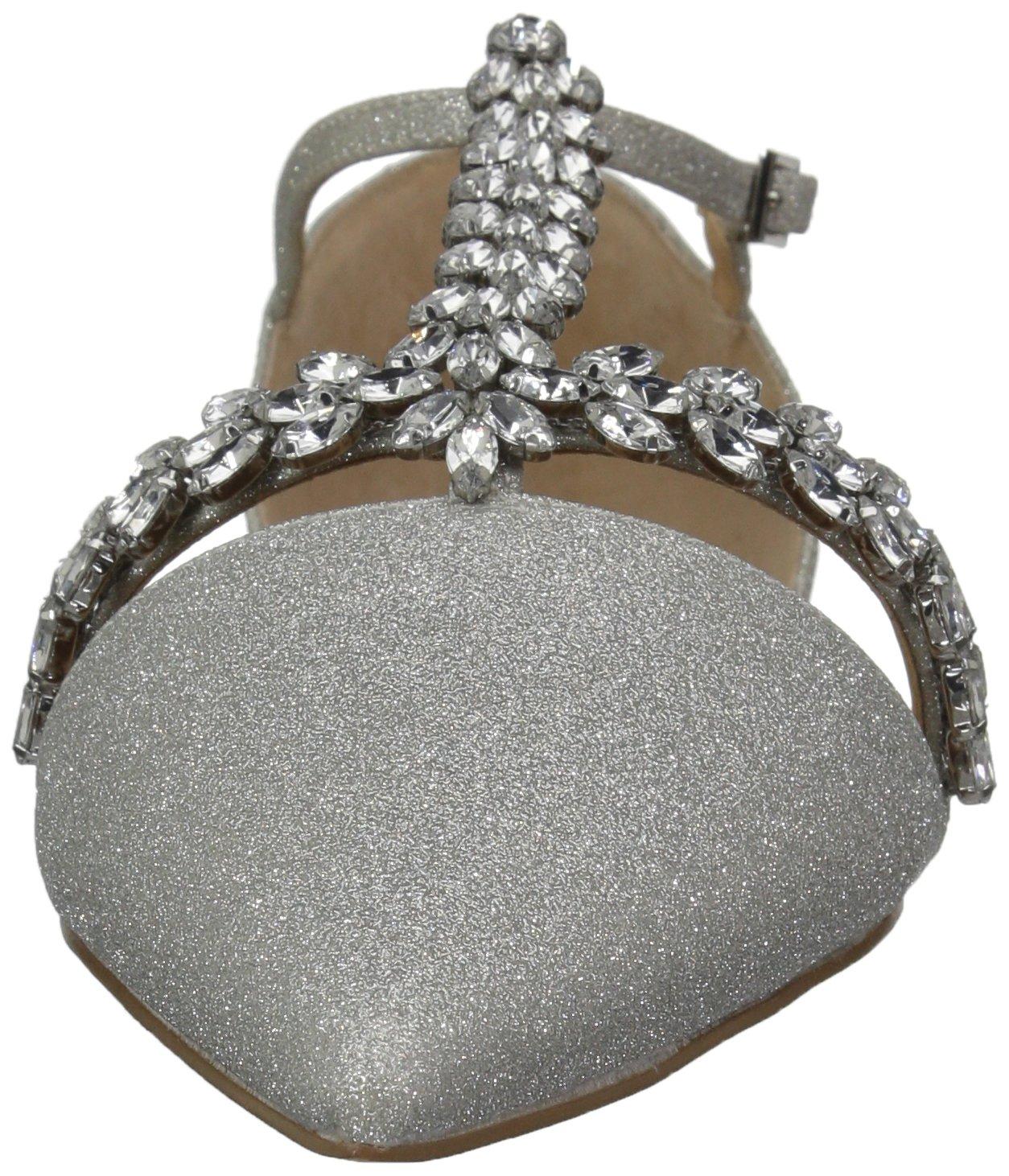 Badgley Mischka 10 Jewel Women's Maury Mary Jane Flat B07864V3GR 10 Mischka B(M) US|Silver Glitter d40f0d