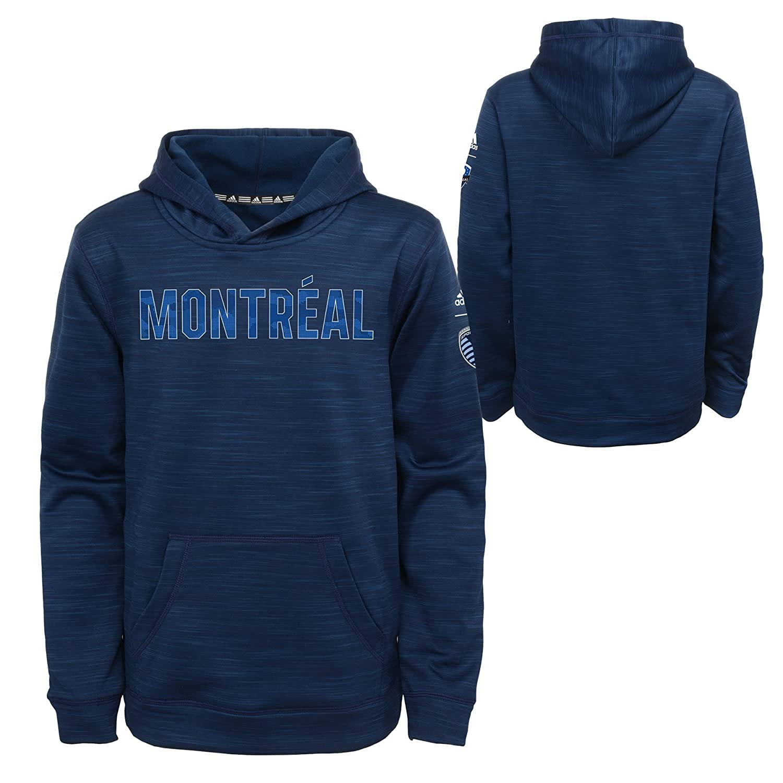 Medium 5-6 Heathered Collegiate Navy MLS by Outerstuff Boys Tactical Block Ultimate Hood