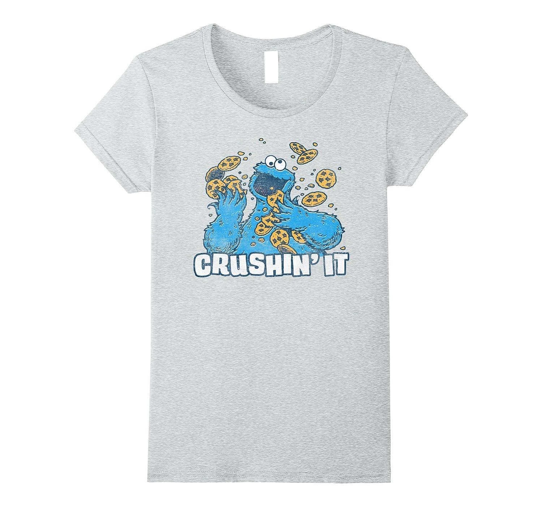 Sesame Street Cookie Monster Crushin' It T Shirt-Teehay
