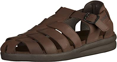 3fbc2fdbd06 Mephisto SAM OLDBRUSH Dark Brown Leather Sandal for Men 39(EUR) 5(US