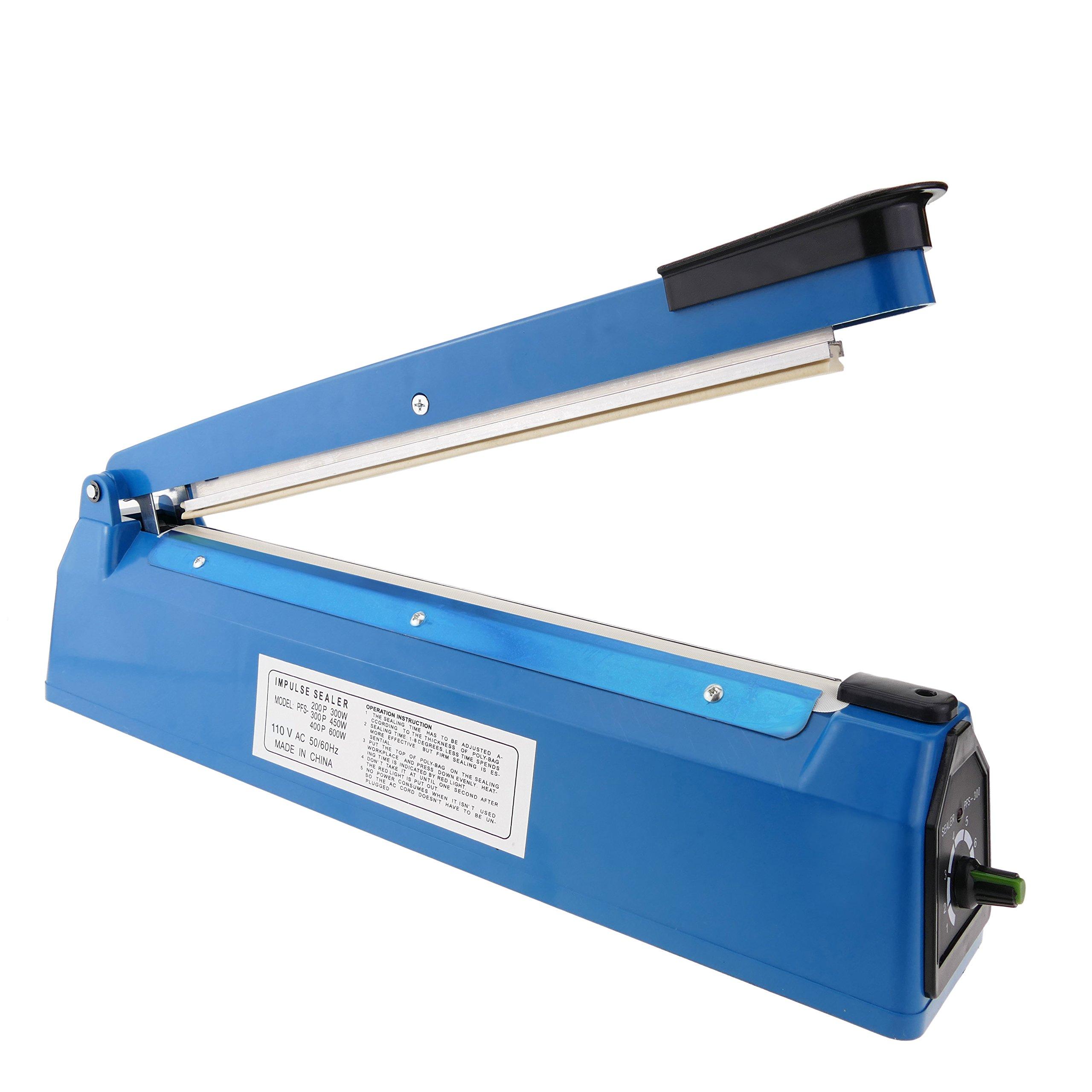 Impulse sealer 12'' plastic bag heat seal machine 30 cm