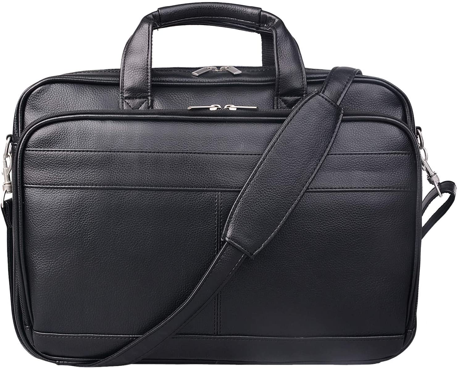 Jack&Chris PU Leather Briefcases for Men 14