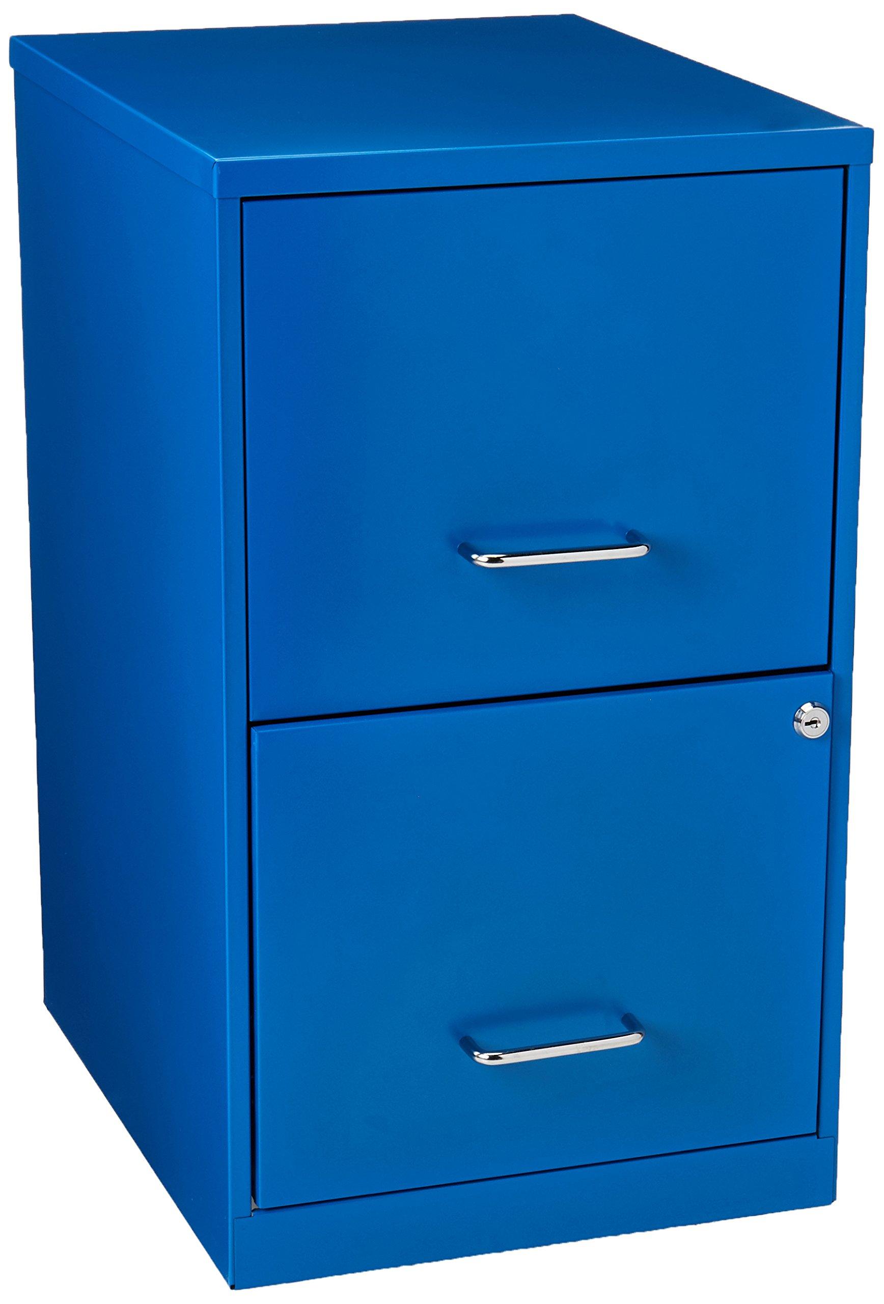 Hirsh SOHO 2 Drawer File Cabinet in Blue by Hirsh Industries