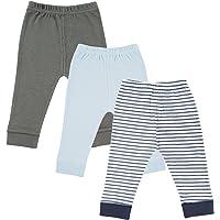 Luvable Friends Paquete de 3 Pantalones con puño en Cintura y Tobillo, para bebé y niño