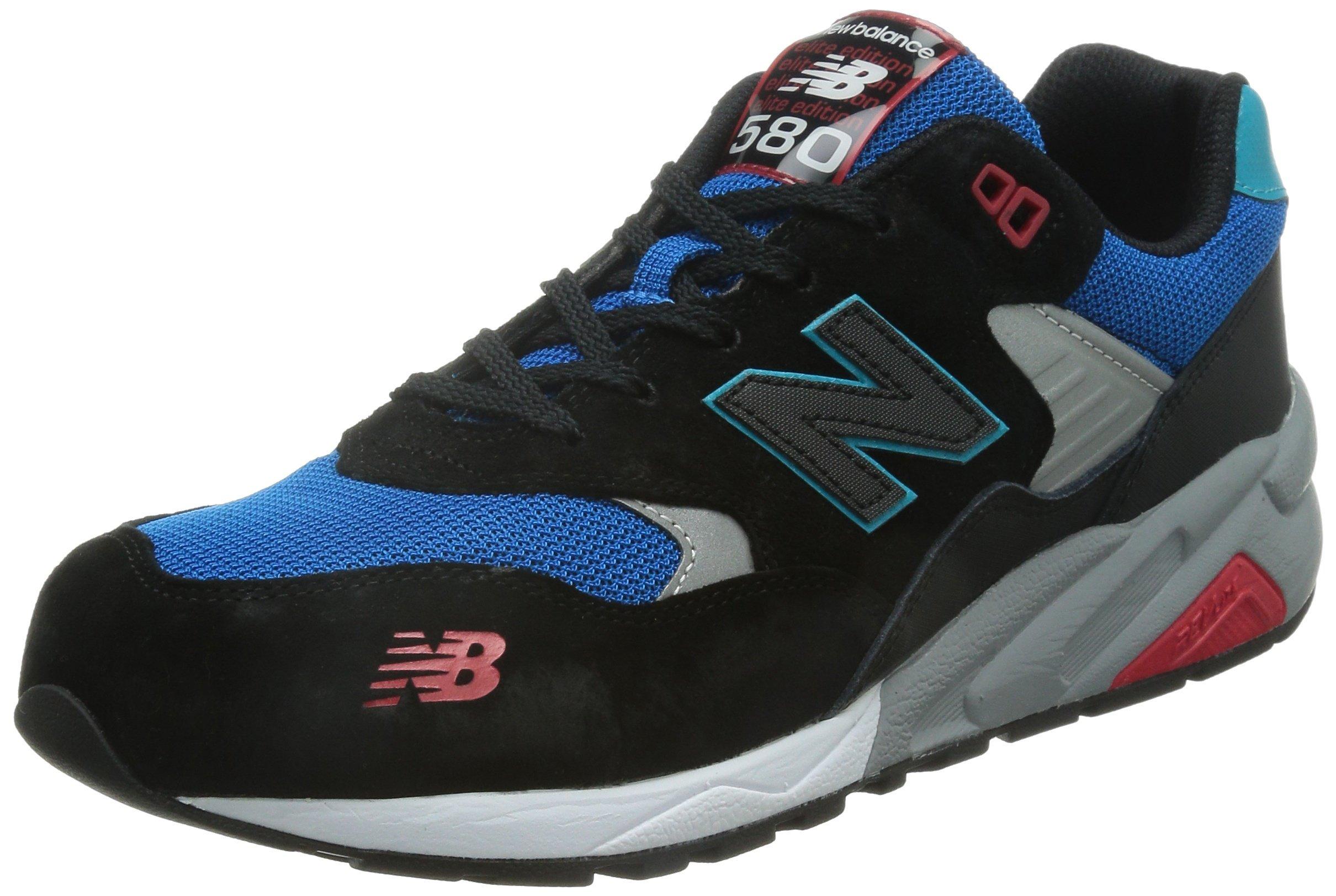 online store ddcd5 d9db5 New Balance Mens Sneakers 580 Elite Edition Pinball Black Blue Red MRT580BF