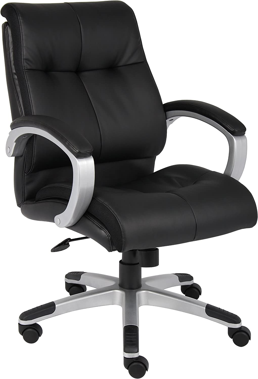 Boss Office Products Double Plush Mid Back Executive Chair in Black