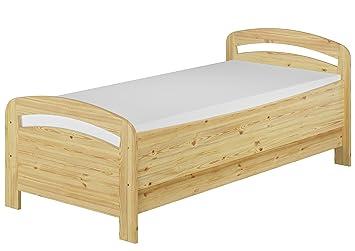 Erst Holz Seniorenbett Extra Hoch 90x200 Matratze Rollrost Kiefer