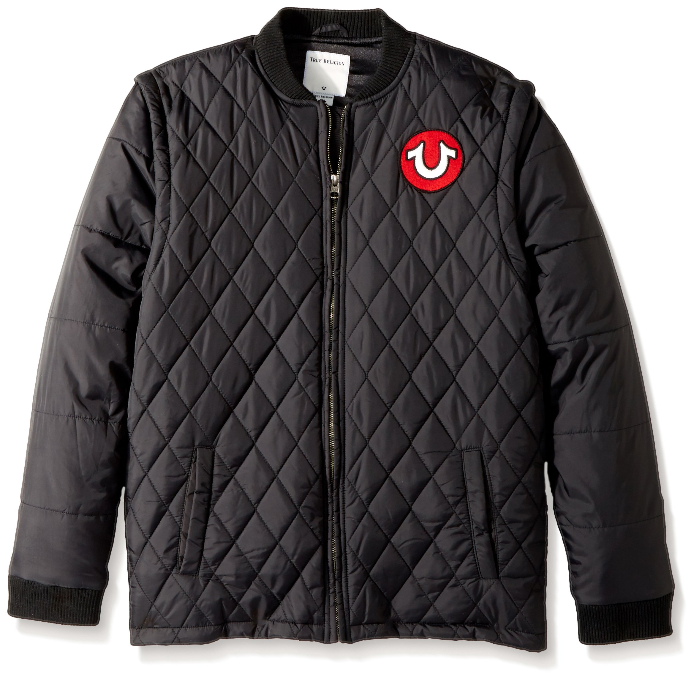 True Religion Big Boys' Quilted Jacket, Black, S