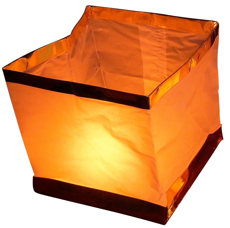 GW Handels UG 10 St/ück Wasserlaterne Schwimmlaterne Schwimmkerzen Lampion Laterne Teelicht Kerze Windlicht Wei/ß Schwimmlicht Outdoor Deko