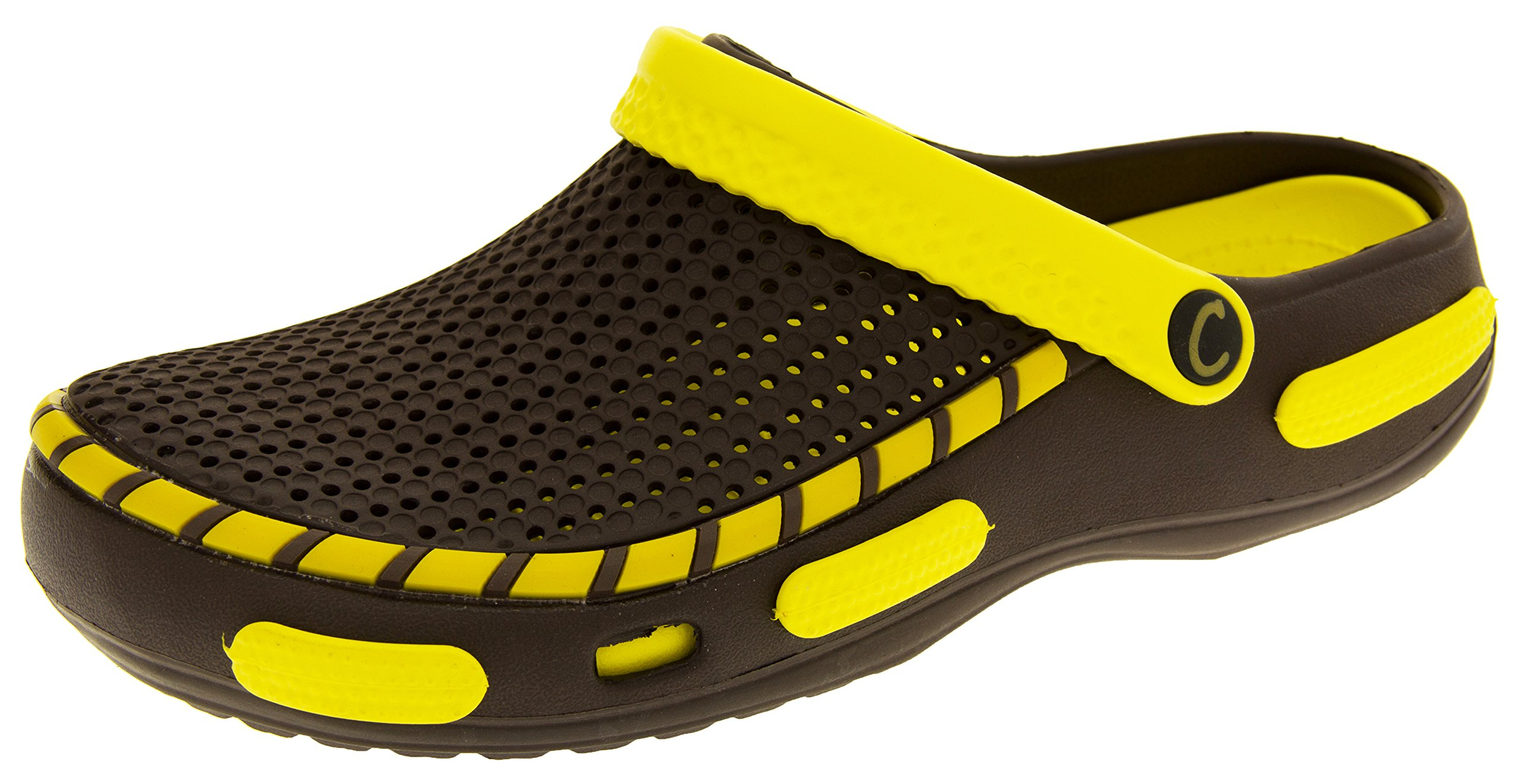 Coolers Mens Beach Clog Sandals Yellow 11 D(M) US