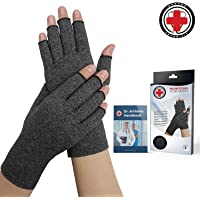 Doctor Developed Compression Arthritis Gloves - Doctor Written Handbook Included: Relieve Arthritis Symptoms, Raynauds Disease & Carpal Tunnel (M)