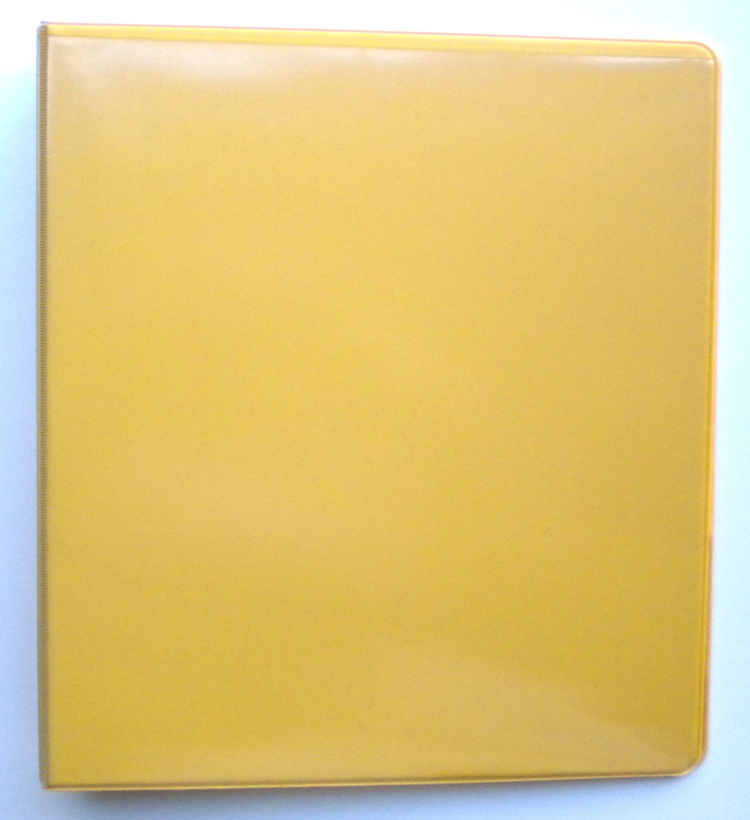 YELLOW 3 RING 1'' VIEW BINDER 8.5 X 11 - BOX OF 12 by Value Binder