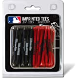 "Team Golf MLB 2-3/4"" Golf Tees, 50 Pack, Regulation Size, Multi Team Colors"