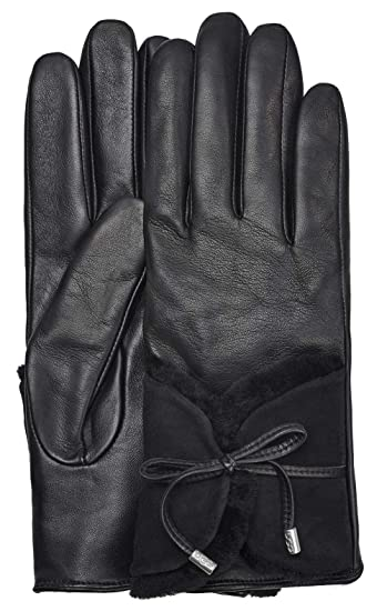 2ae932b75ab UGG Womens Combo Sheepskin Trim Glove at Amazon Women's Clothing store