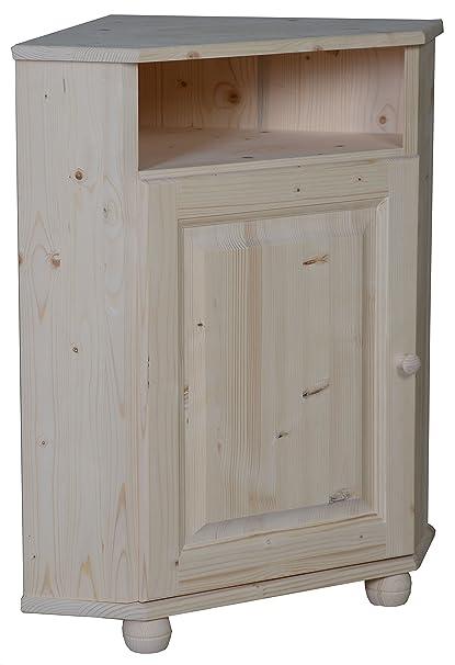 Mueble esquinero de madera de pino en bruto: Amazon.es: Hogar