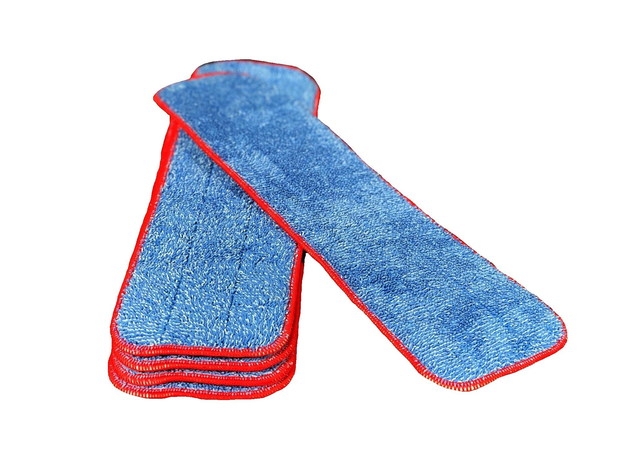 18'' Inch Microfiber Mop Pad Refills Fits 16 to 18 Inch Mop Frames Wet & Dry Use Commercial Microfiber (5 Pack)