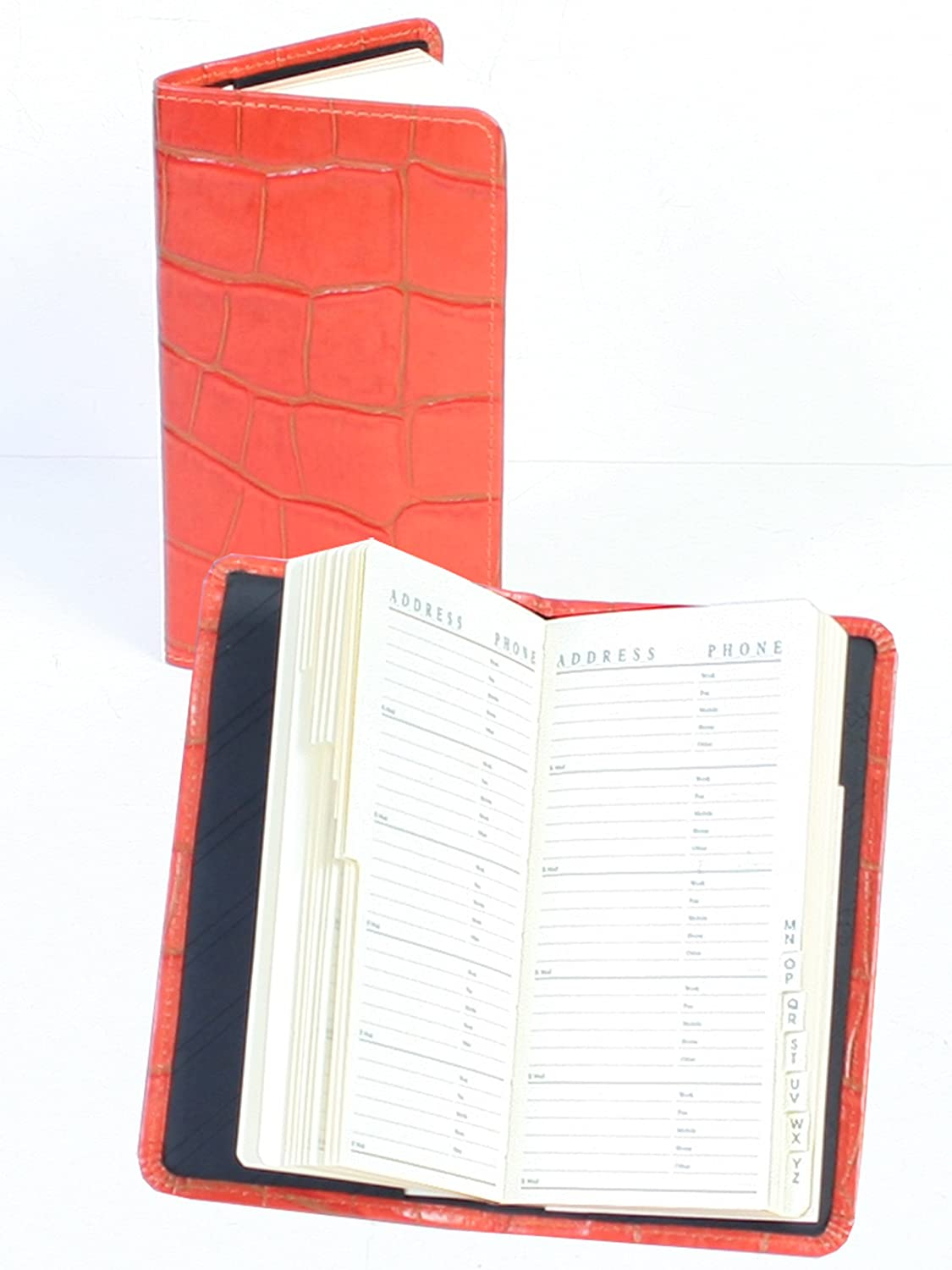 Black Scully Croco Leather Tel//Address Book Organizer Business