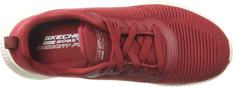Skechers BOBS Women's Bobs Squad-Tough Talk Sneaker Red