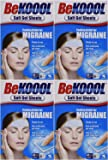 KOBAYASHI HEALTHCARE LLC Be Koool Cooling Relief For Migraine, Soft Gel Sheets, 4 Sheets (Pack Of 4)
