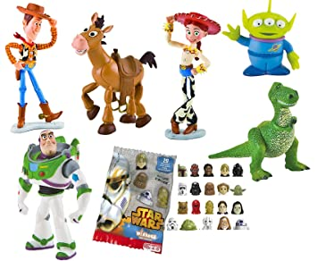 LOTE 6 FIGURAS Bullyland Toy Story - Woody - Buzz Lightyear - Jessy -  Perdigón - 30be399d71a