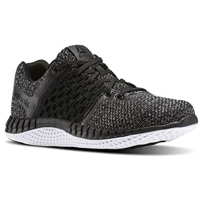 Reebok Mens Zprint Run Ultraknit Running Shoe Black/Coal/White/Dust Size: