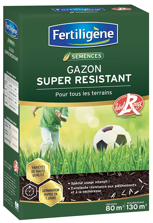5fca0ad3fb Fertiligene Gazon Super Résistant Label Rouge, 80m²: Amazon.fr: Jardin