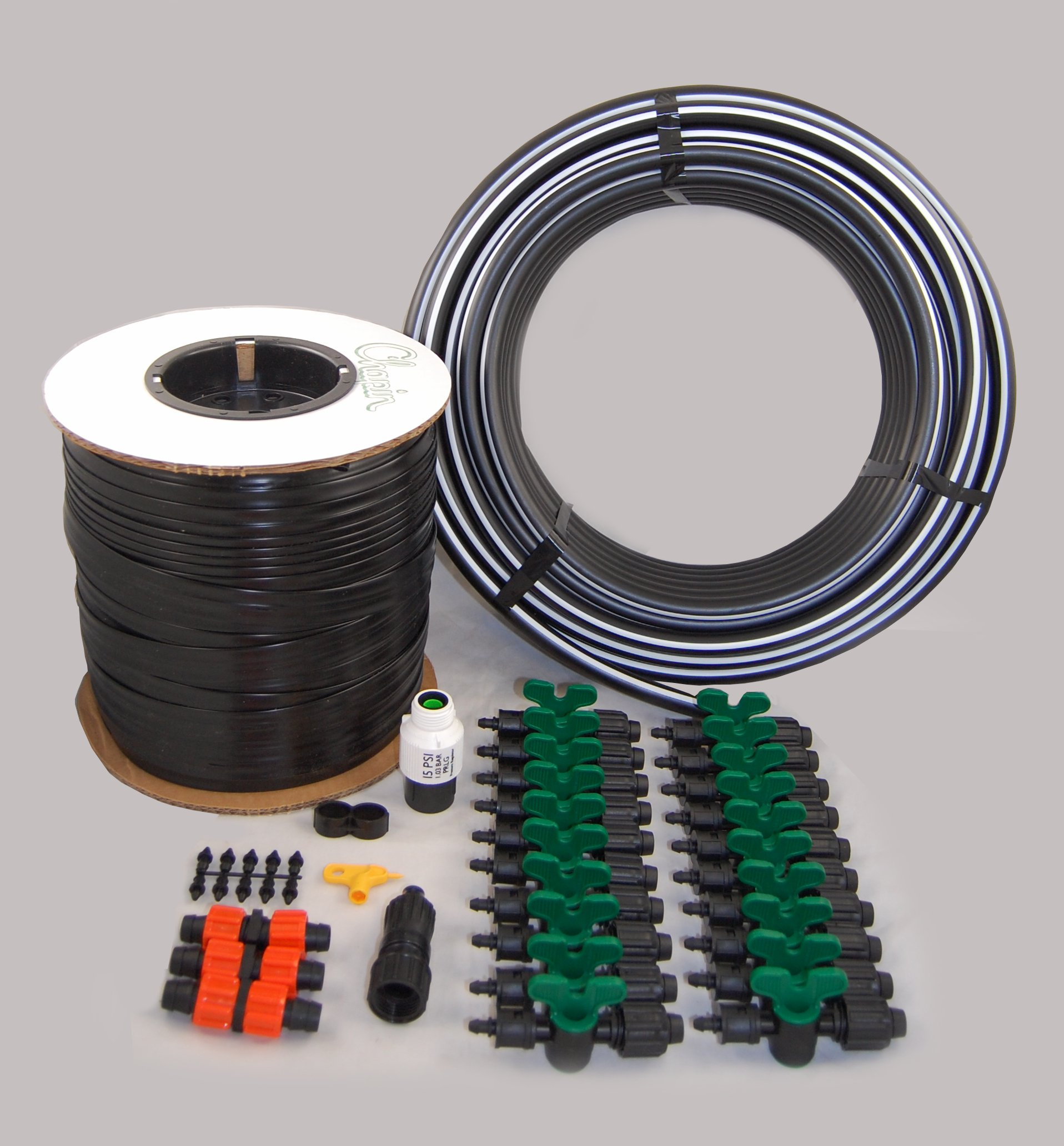Vegetable Garden Drip Kit – 20 Rows x 50 Ft– Watering Garden Drip Irrigation by Grower's Solution