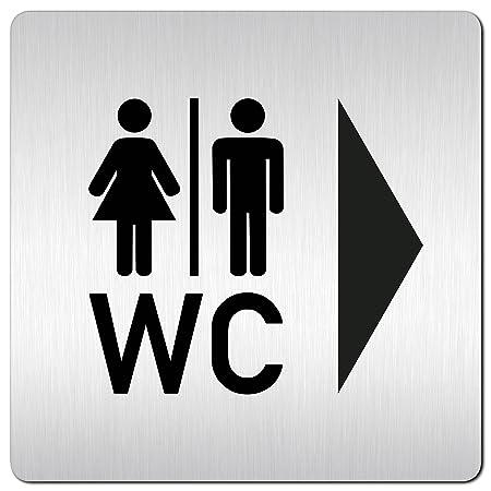 Placa para puerta baño wc •