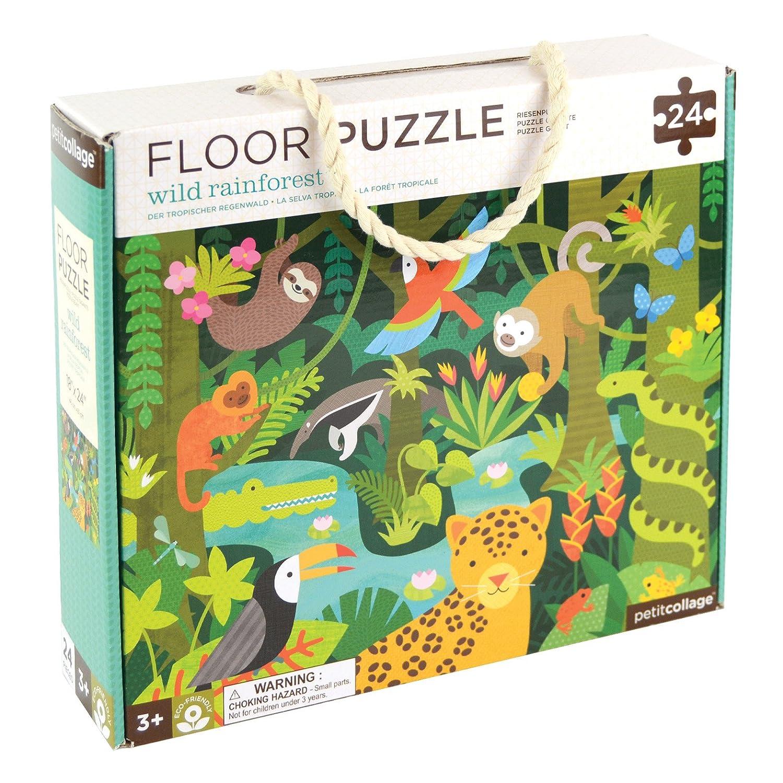 Petit Collage Floor Puzzle Selva salvaje