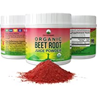 Organic Beet Root Powder - Highest Quality Super Food Beets Juice Powder. 100% Pure Organic Nitric Oxide Boosting…