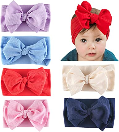 Soft touch Baby Girl Headband Bow Pack Brand New Pink Purple