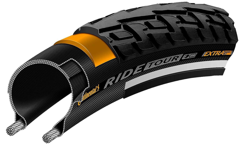 Continental Ride Tour Cross /ハイブリッド自転車タイヤ – Wire Bead B074V9S23K 700x28|ブラック ブラック 700x28