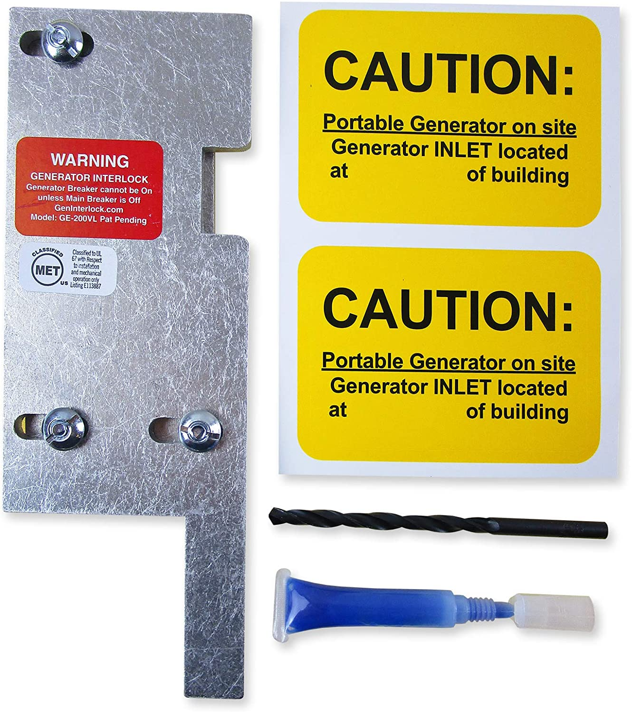 GE-200HDA General Electric Generator interlock kit 150 200 Amp Panels LISTED