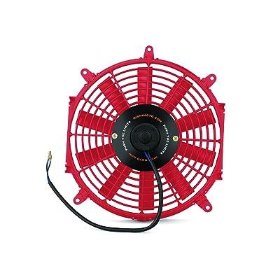 "Mishimoto Slim Electric Fan 12"", Red: Automotive"