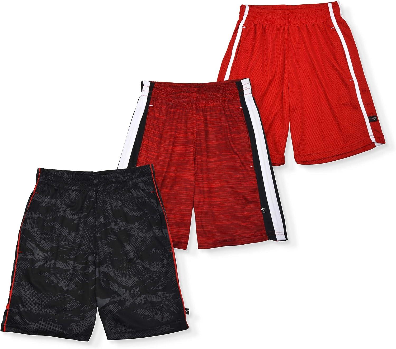 Cheetah Boys 3 Piece Athletic Basketball Gym Shorts Set