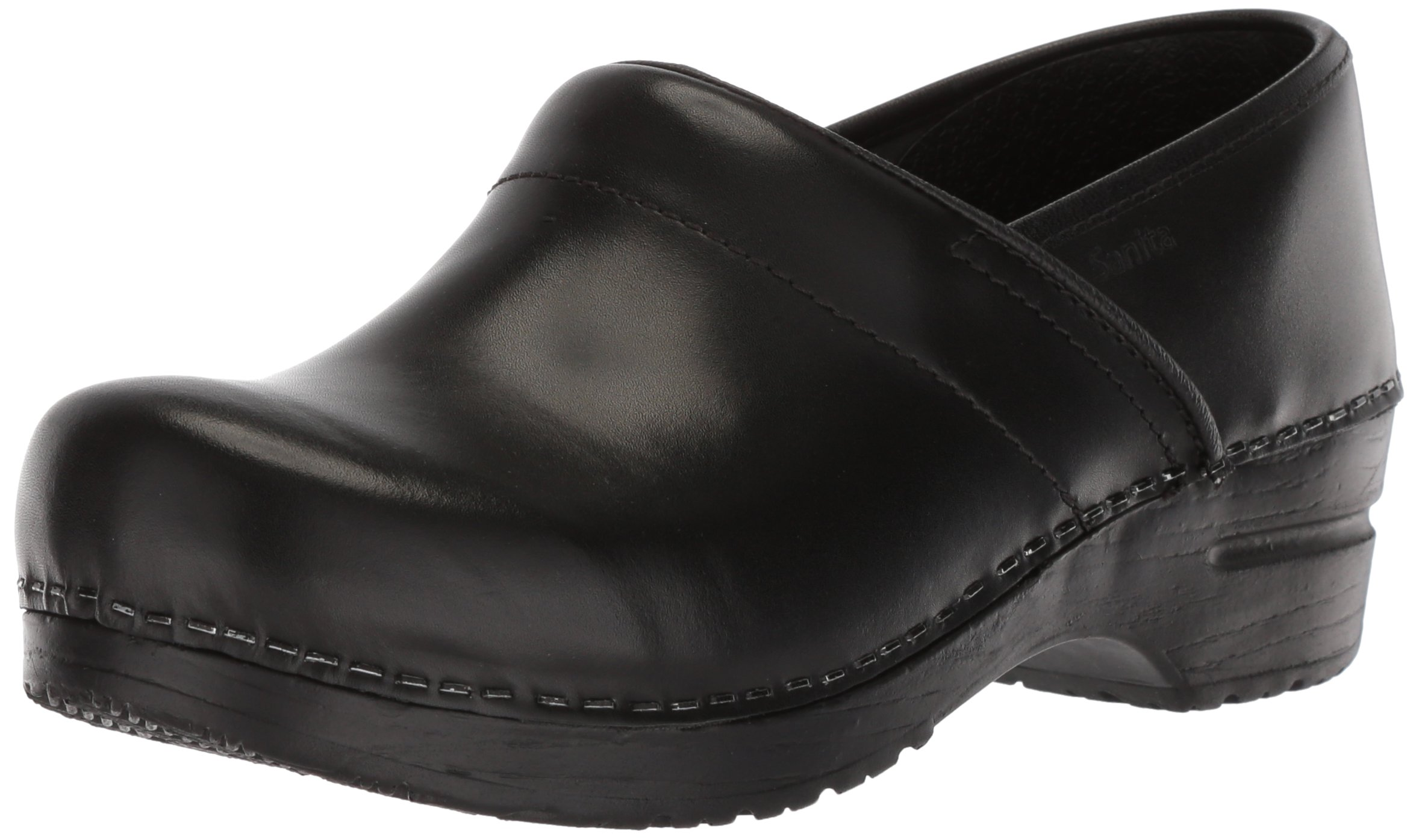 Sanita Women's Professional Cabrio Clog, Black, 39 EU/8-8.5 W US