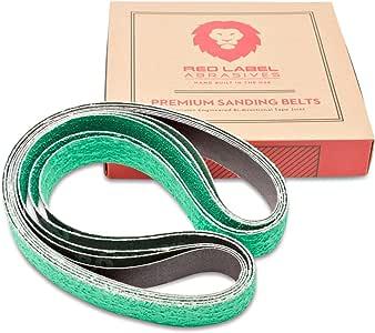 Red Label Abrasives 1 X 30 Inch Knife Sharpening Sanding Belts - Premium Ceramic - Coarse Grits - 6 Pack Assortment
