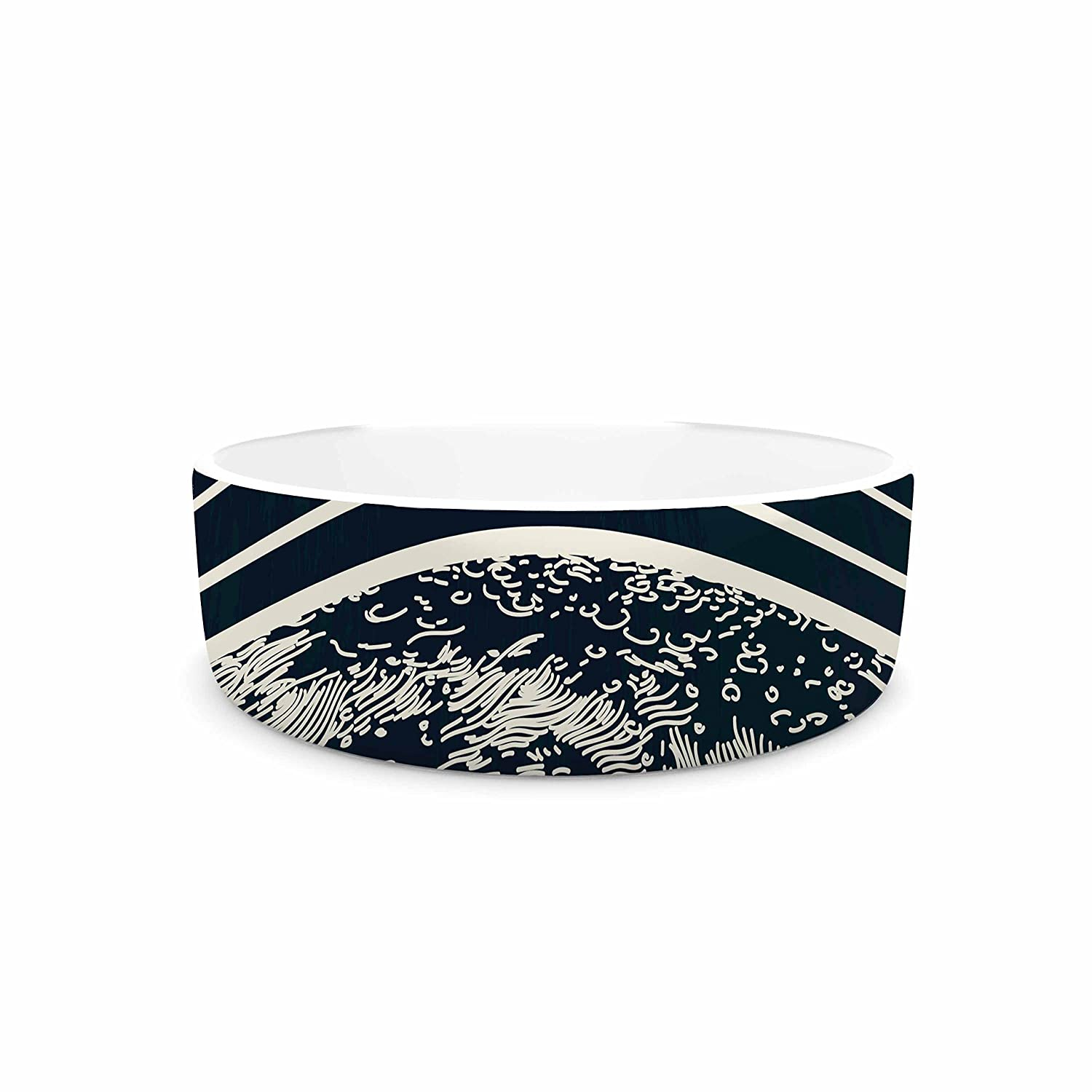 KESS InHouse Sam Posnick We are without Limits  bluee Typography Pet Bowl, 7