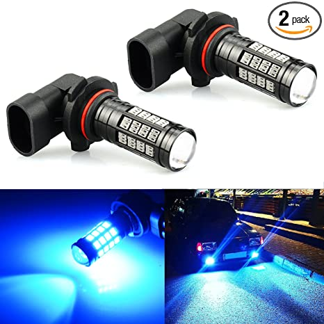 JDM ASTAR 2800 Lumens Extremely Bright 4014 Chipsets 9006 LED Fog Light Bulbs for DRL or Fog Lights, Ice Blue