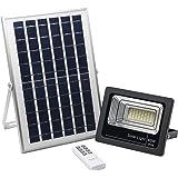 Foco Solar LED 40W, Luz Solar Exterior Luz Blanco-Neutro 4000K, Lámpara Solar Hasta 15 HORAS de Luz, Iluminación Solar 1250 LM, Aplique Solar 48 LEDS