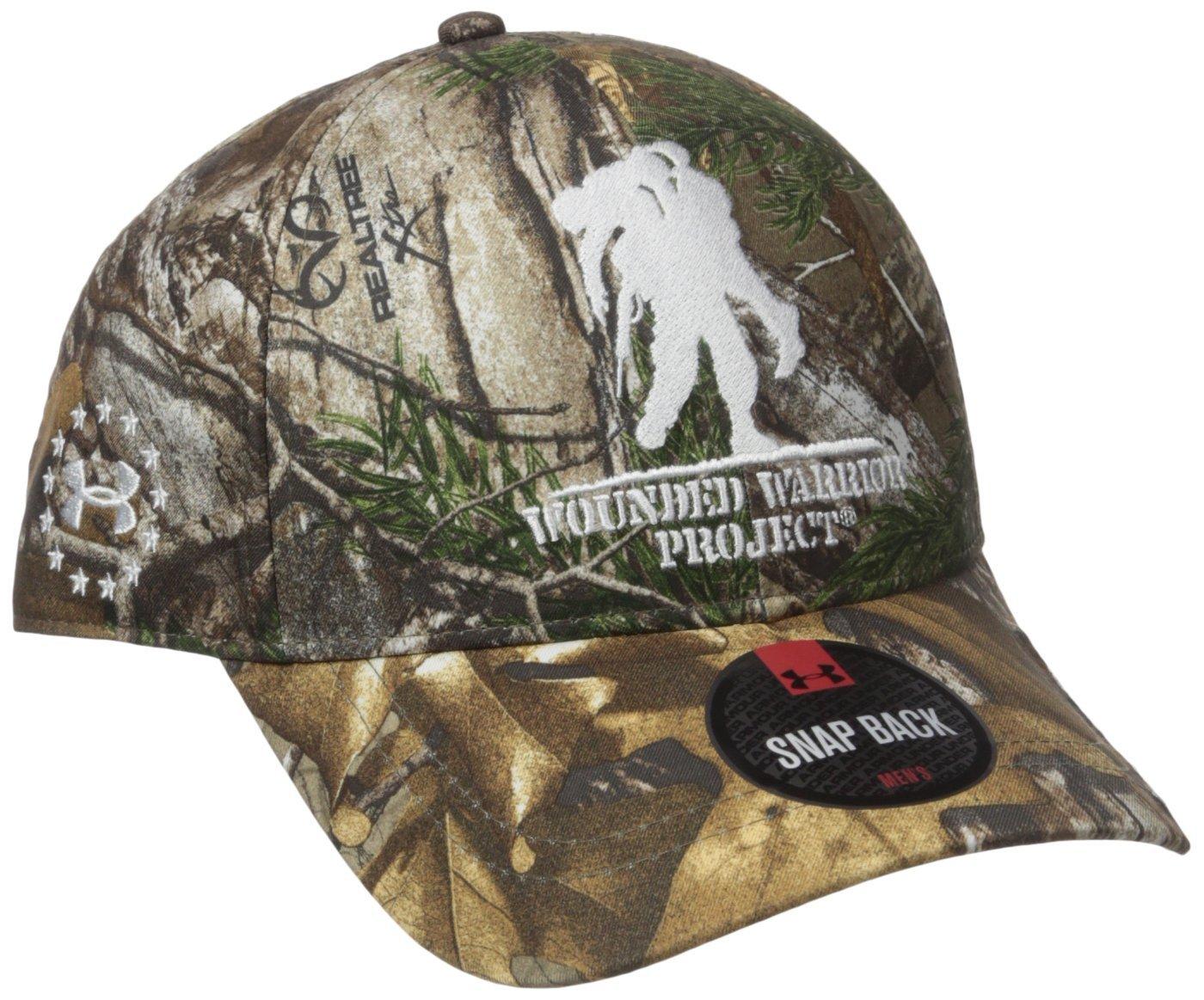 c41e75abb3e Amazon.com  Men s Under Armour Hunt Camo WWP Cap Hunting Headwear Mossy Oak  Treestand White Size One Size  Camera   Photo