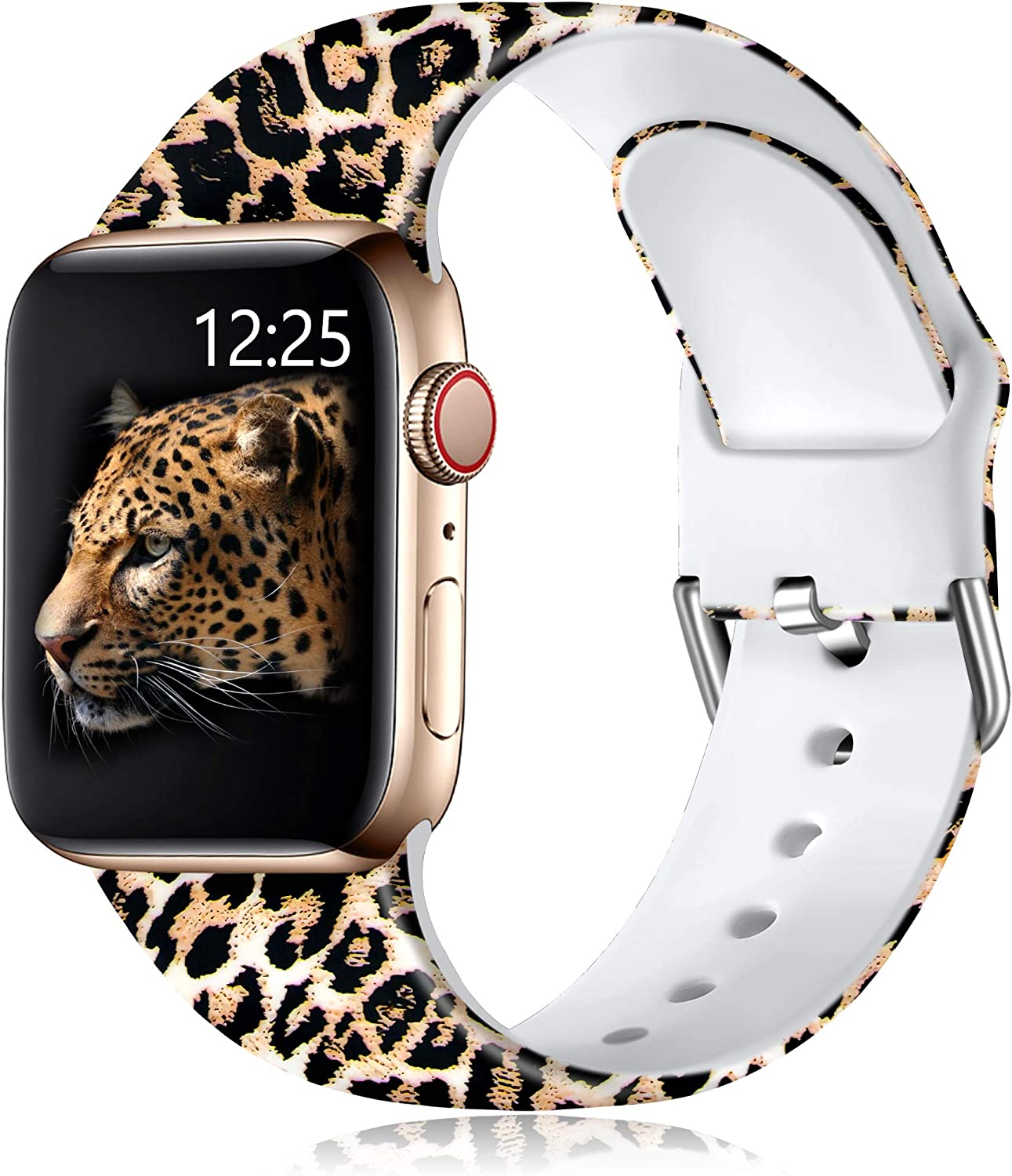 Muranne Band Compatible with Apple Watch SE 40mm 38mm for Women Ladies Girls Stylish Fadeless Print Replacement Watch Bands Cute Soft Silicone Sport Wristbands for iWatch Series 6 5 4 3 2 1
