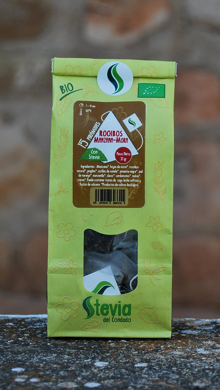 Rooibos Manzana Mora con Stevia 15 Pirámides | Stevia del Condado: Amazon.es: Alimentación y bebidas