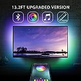 "13.2Ft TV Backlights USB Light Strip Kit for 55""-70"" TV, Mirror, PC, APP Control Sync to Music, Bias Lighting, 5050 RGB…"