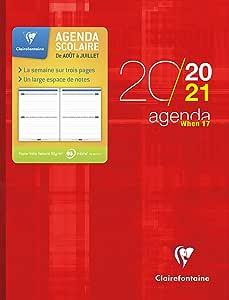 CLAIREFONTAINE – 1 agenda WHEN 17 rojo – 7 de 2020 a siete